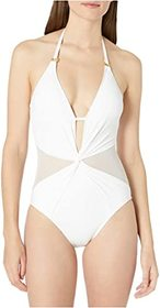 La Blanca Mesh-Merizing Halter Mio One-Piece Swims
