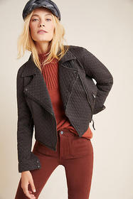 Anthropologie Marrakech Quilted Moto Jacket
