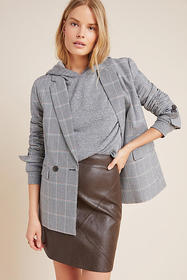 Anthropologie Hallie Faux Leather Mini Skirt