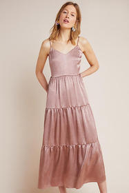 Anthropologie Elodie Tiered Maxi Dress