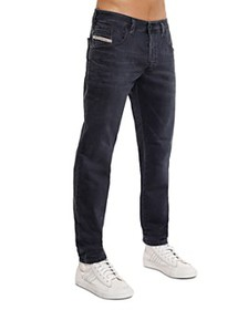 Diesel - Bazer Slim Straight Fit Jeans in Green/Gr
