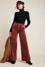 Anthropologie Pilcro High-Rise Wide-Leg Corduroy P