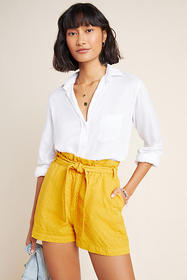 Anthropologie Rhys Textured Paperbag Shorts