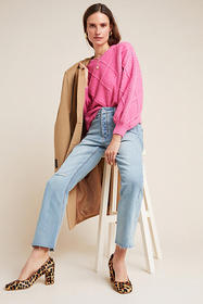 Anthropologie Pilcro High-Rise Relaxed Straight Je