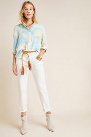 Anthropologie Pilcro Ultra High-Rise Seamed Slim J