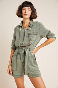 Anthropologie Devon Utility Romper