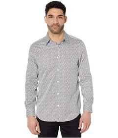 Perry Ellis Arrow Print Long Sleeve Button-Down Sh