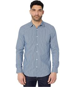 Perry Ellis Slim Performance Stripe Button-Down