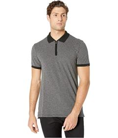 7 For All Mankind Short Sleeve 1\u002F2 Zip Polo