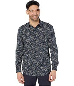 Perry Ellis Regular Fit Stretch Printed Shirt