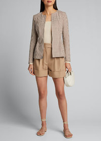 Theory Shirred Square-Neck Pullover