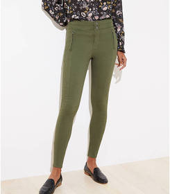 Petite High Waist Skinny Sateen Pants
