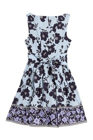 Vince Camuto Floral Stripe Fit & Flare Dress (Peti