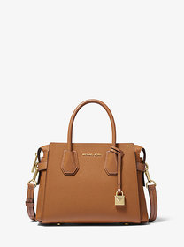 Michael Kors Mercer Small Pebbled Leather Belted S