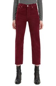 Levi's High Waisted Corduroy Crop Jeans