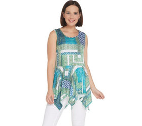 """As Is"" Attitudes by Renee Sleeveless Knit Top - A"