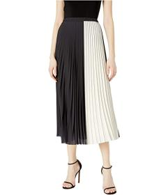 Anne Klein Color-Block Pleated Maxi Skirt