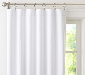 Pottery Barn Ruffle Bottom Blackout Curtain