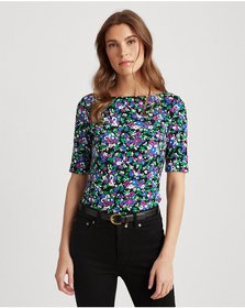 Ralph Lauren Floral Cotton-Blend Top