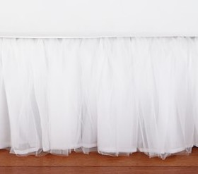 Pottery Barn Tulle Bed Skirt