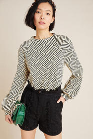 Anthropologie Westerly Geometric Pullover