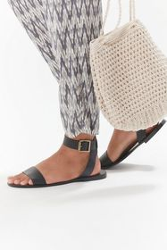UO Lana Ankle Strap Leather Sandal
