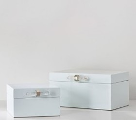 Pottery Barn Crystal Lacquer Jewelry Boxes