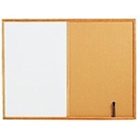 Staples Standard Cork & Dry Erase Whiteboard, 4 x