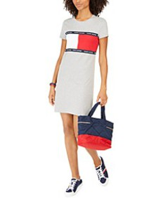 Signature-Graphic T-Shirt Dress, Created for Macy'