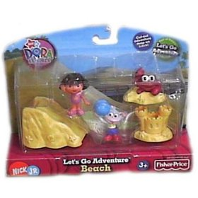 Beach Playset, Includes two figures each and sever