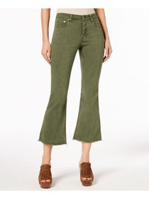 MICHAEL KORS Womens Green Capri Pants Petites Size