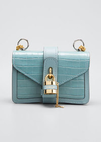Chloe Aby Mini Croco Leather Shoulder Bag