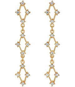 Kenneth Jay Lane Gold with Crystals Three Diamonds