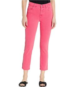 J Brand Ruby High-Rise Crop Skinny in Pink Coral
