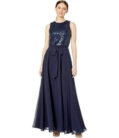 Calvin Klein Embroidered Bodice Gown