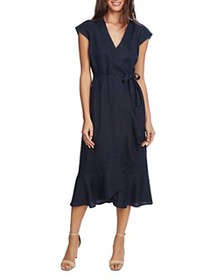 VINCE CAMUTO - Ruffled Faux-Wrap Dress - 100% Excl