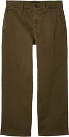 Lucky Brand Mid-Rise Crop Wide Leg Jeans in Olive