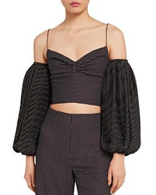 Alice and Olivia - Kamila Off-the-Shoulder Crop To