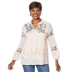 """""""As Is"""" Curations Artisan Lace Blouse"""