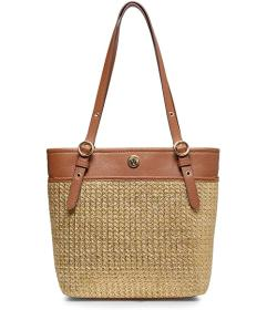 Anne Klein Straw Pocket Tote