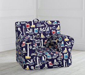 Pottery Barn Jax Construction Print Anywhere Chair on sale at Pottery Barn Kids