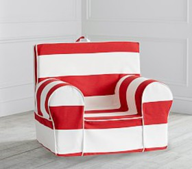 Pottery Barn Red Classic Rugby Stripe Anywhere Cha