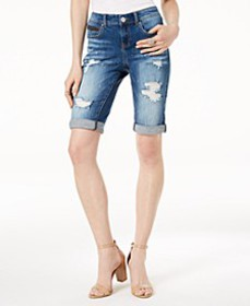 INC Ripped Bermuda Shorts, Created for Macy's