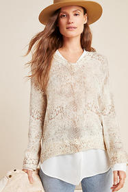 Anthropologie Serpentine Layered Sweater