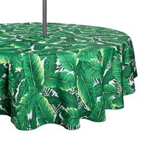 Design Imports Banana Leaf Outdoor Tablecloth with