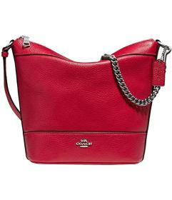 COACH Pebbled Leather Small Paxton Duffel