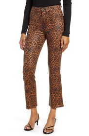 7 For All Mankind High Waist Leopard Printed Kick