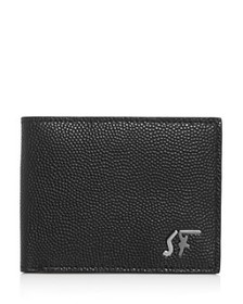 Salvatore Ferragamo - Signature Logo Pebbled Leath