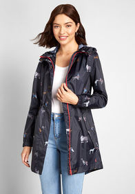 Joules The Showers That Be Raincoat Navy Dog Print