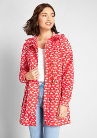 Joules The Showers That Be Raincoat Red